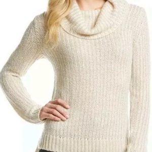 DKNY Cream Sweater Cowl Neck Size Medium NWT